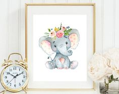 Art - Elephant with flower crown