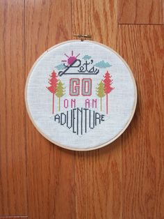 Adventure -modern cross stitch pattern- typography inspired - PDF format - instantly downloadable by TinyBoxesDesigns on Etsy https://www.etsy.com/listing/197964218/adventure-modern-cross-stitch-pattern