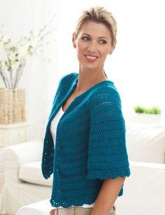Cape Sleeved Cardi Free Crochet pattern 1