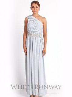 one shoulder bridesmaid dress, silver bridesmaid dress