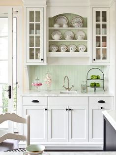 A hutch or custom-built display unit could be just the thing to show off antique crockery or other favourite items.