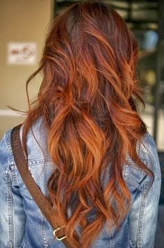 ombre brown hair to ginger - Google Search
