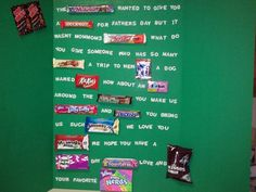 Our Father's Day Candy Card for Pop-Pop!