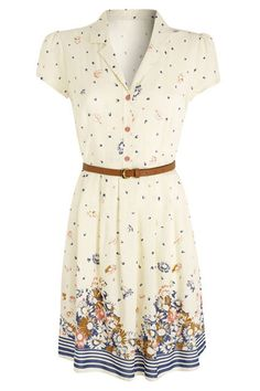 Belted Shirt Dress - H! by Henry Holland @Denbenhams - £40--- be cute with a pair of boots!!!