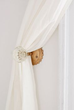 Shop Crystal Door Knob Curtain Tie-Back at Urban Outfitters today. We carry all the latest styles, colors and brands for you to choose from right here. Diy Door Knobs, Glass Door Knobs, Sliding Glass Door, Door Knobs Crafts, Sliding Door Curtains, Glass Doors, Curtain Tie Backs Diy, Curtain Ties, Curtain Tiebacks Ideas