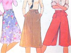 Vintage 70s sewing pattern Simplicity 7399. Cute by Fancywork