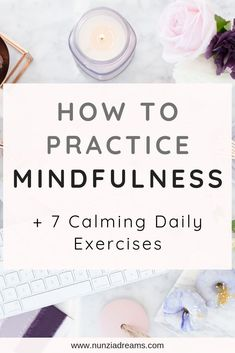 How to Practice Mindfulness + 7 Calming Daily Exercises On a daily basis, we all have a lot to check off of our to-do lists. When we practice mindfulness, we learn to slow things down in our busy digital age. Mindfulness Exercises, Mindfulness Activities, Mindfulness Practice, Mindfulness Meditation, Meditation Music, Buddhist Meditation, Chakra Meditation, Daily Exercise Routines, Me Time