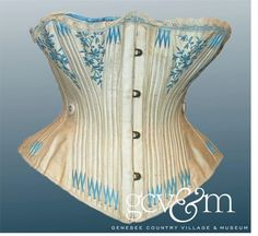 Corset with blue emb.