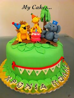 My Cakes...: ΤΡΙΣΔΙΑΣΤΑΤΕΣ ΠΑΙΔΙΚΕΣ ΤΟΥΡΤΕΣ Birthday Brunch, Birthday Cake, Desserts, Food, Tailgate Desserts, Birthday Lunch, Deserts, Birthday Cakes, Essen