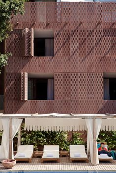 by lotus praxis initiative 'raas jodhpur' new delhi room boutique hotel set in restored site of mehragnarh fort Exterior Paint Colors, Exterior House Colors, Paint Colors For Home, Jodhpur, New Delhi, Metal Facade, Stone Facade, Perforated Metal, Exterior Cladding