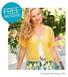 Rico Design Ladies Cardigan FREE Pattern | Deramores