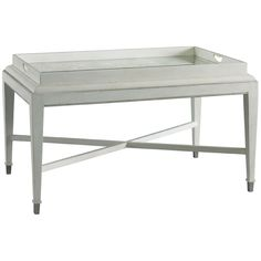 Lillian August Brooks Tray Cocktail Table in Ivory LA97315-01