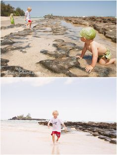 A hidden toddler beach on the north shore | Oahu with kids - Fun Oahu Family Photography by Little Bird Photography