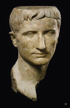 Portrait of Emperor Augustus. 27BC. - AD14. Roman. marble. http://hadrian6.tumblr.com