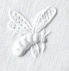 ≗ The Bee's Reverie ≗ white bee embroidery