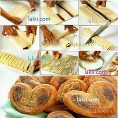 How to cook cute heart shape quick breads learned from culinary schools step by step DIY tutorial instructions No Bake Desserts, Dessert Recipes, Low Calorie Cake, Bread Shaping, Good Food, Yummy Food, Food Crafts, Quick Bread, Sweet Recipes