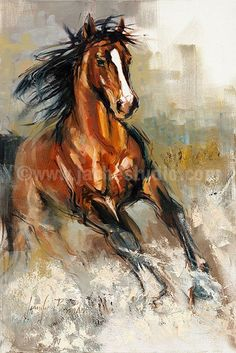 Horse Painting, Horse Art, The Stallion Hand Embellished Giclée, Painted Fine Art Print Horse Drawings, Art Drawings, Arte Equina, Horse Artwork, Equine Art, Horse Pictures, Animal Paintings, Horse Paintings, Western Art