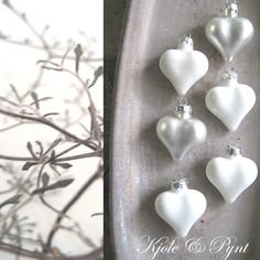 it will be Advent, anticipation . Dekoblog, Advent, Pearl Earrings, Collage, Pearls, Christmas, Beautiful, Country Living, Grey