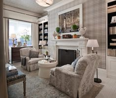 Best of Kips Bay Showhouse 2 - I love plaid wallpaper.