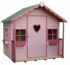 love the scalloped trim/girls new playhouse - Pink playhouse
