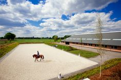 Dressage arena and horse barn, The Netherlands