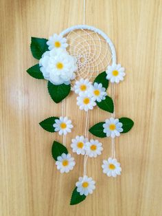 Beautidul Hand Made Daisy Dreamcatcher by JasmineTreasures on Etsy