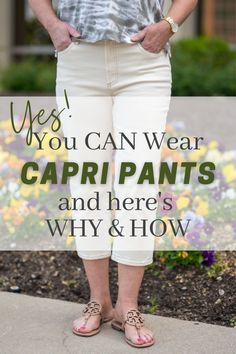 You Can Wear Capri Pants - How to Wear Capri pants stylishly - how to wear crop pants - cropped pants for women over 50 Fashion Over 50, Fashion Tips, Weekend Wear, Aging Gracefully, Real Women, Cropped Pants, Spring Fashion, Cool Outfits, Pants For Women