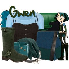 """Gwen from Total Drama Island"" by likeghostsinthesnow on Polyvore"