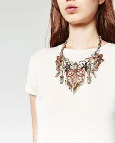 Flores Pájaros, Collar Flores, Piñas De, En Ananassen, Zara México, Mujer Zara, Imagen 2, Última Semana, Bisuteria Accesorios