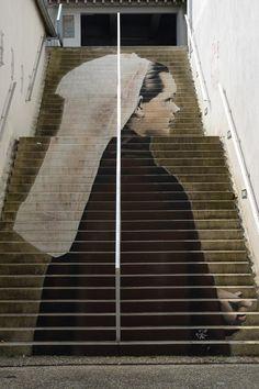 stairs street art - 30 Beautiful Street Artworks on Stairs 3d Street Art, Murals Street Art, Street Art Graffiti, Street Artists, Best Graffiti, Urban Graffiti, Stair Art, Graffiti Artwork, Photo Images
