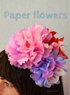 Tutorial: Come realizzare un cerchietto per capelli con fiori di carta | La Figurina