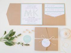 Pocketfold, Hochzeitseinladung, Juhu Papeterie, Hochzeitspapeterie, Kraftpapier