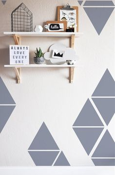 Large Triangles  WALL DECAL by TheLovelyWall on Etsy