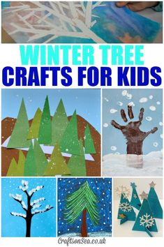 Winter Tree Crafts for Kids. Plan a few simple crafts to do with your kids when they're home for the holidays or snow days.