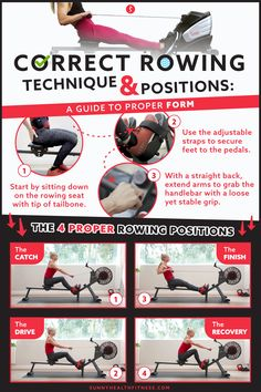 To help you reduce your risk of injury and improve effectiveness on a rowing machine, we've created a step-by-step guide on proper rowing machine form. We've mapped out the different positions and critical points that will enhance your rowing form. #sunnyhealthfitness #rowingmachine #rower #rowing #rowingtechnique