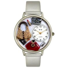 Whimsical Watches Women's U1010021 Unisex Silver Purse Lover Silver Leather And Silvertone Watch Whimsical Watches. Save 53 Off!. $44.94