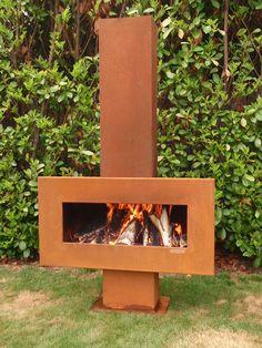 NUOVO Giardino Fire Pit Outdoor Legno Log Burner BBQ Patio Riscaldatore Campeggio BRACIERE