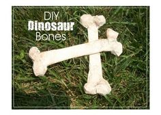 DIY Dinosaur Bones ... Great for a Halloween grave yard, too!