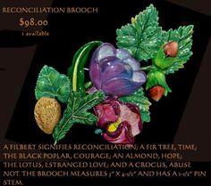 Spring bouquet, reconciliation brooch