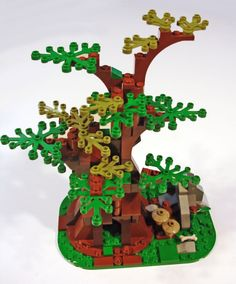 Lego Custom Set KNOTTY OAK TREE - plant City Train Town - New with Instructions! #LEGO