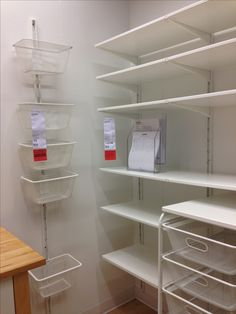 Algot pantry organization/storage