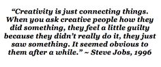 Creativity according to Steve Jobs