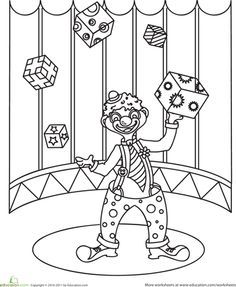 find this pin and more on happy world jugglers day worksheets juggling clown coloring page