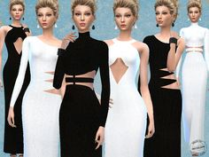 Cut Out Knitted Maxi Dresses by Fritzie.Lein at TSR via Sims 4 Updates