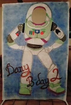 Manta diseño para fiesta  Buzzlightyear ToyStory hbday