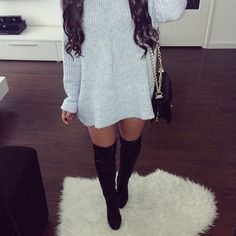 Image result for loose sweater dress