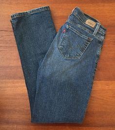 Levi's 529 Womens Size 6 28x31 Curvy Boot Cut Medium Jeans Red Tab #Levis #SlimSkinny