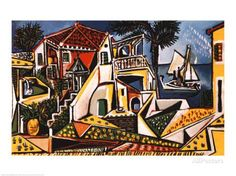 Paysage méditerranéen Reproduction d'art