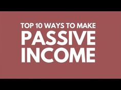 Passive Income Business Ideas | HubPages