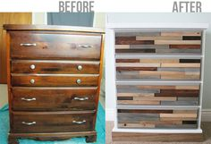 Painted or stained wood shims. DIY Wood Shim Dresser Tutorial!
